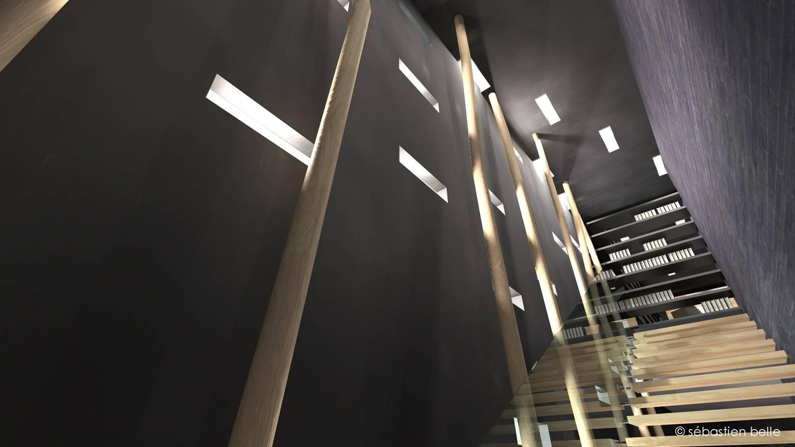 restructuration et agencement d 39 un appartement en duplex. Black Bedroom Furniture Sets. Home Design Ideas