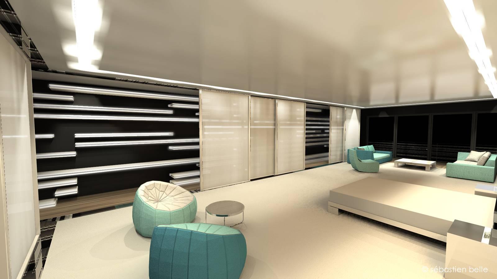 agencement int rieur d 39 un loft standing gen ve en suisse architecte a2 sb. Black Bedroom Furniture Sets. Home Design Ideas