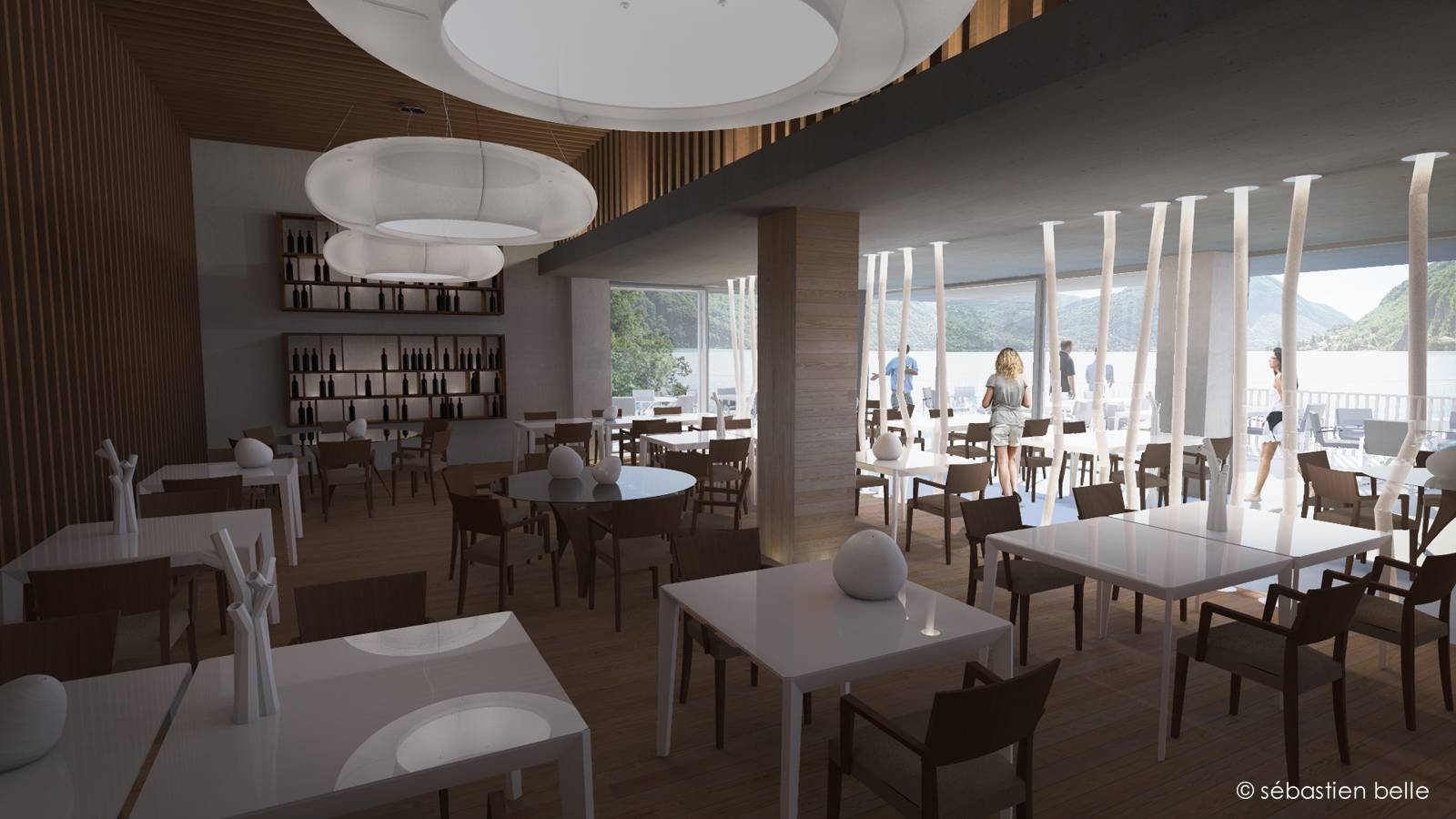 Agencement et design d 39 un restaurant sur le lac de c me en for Architecte interieur restaurant