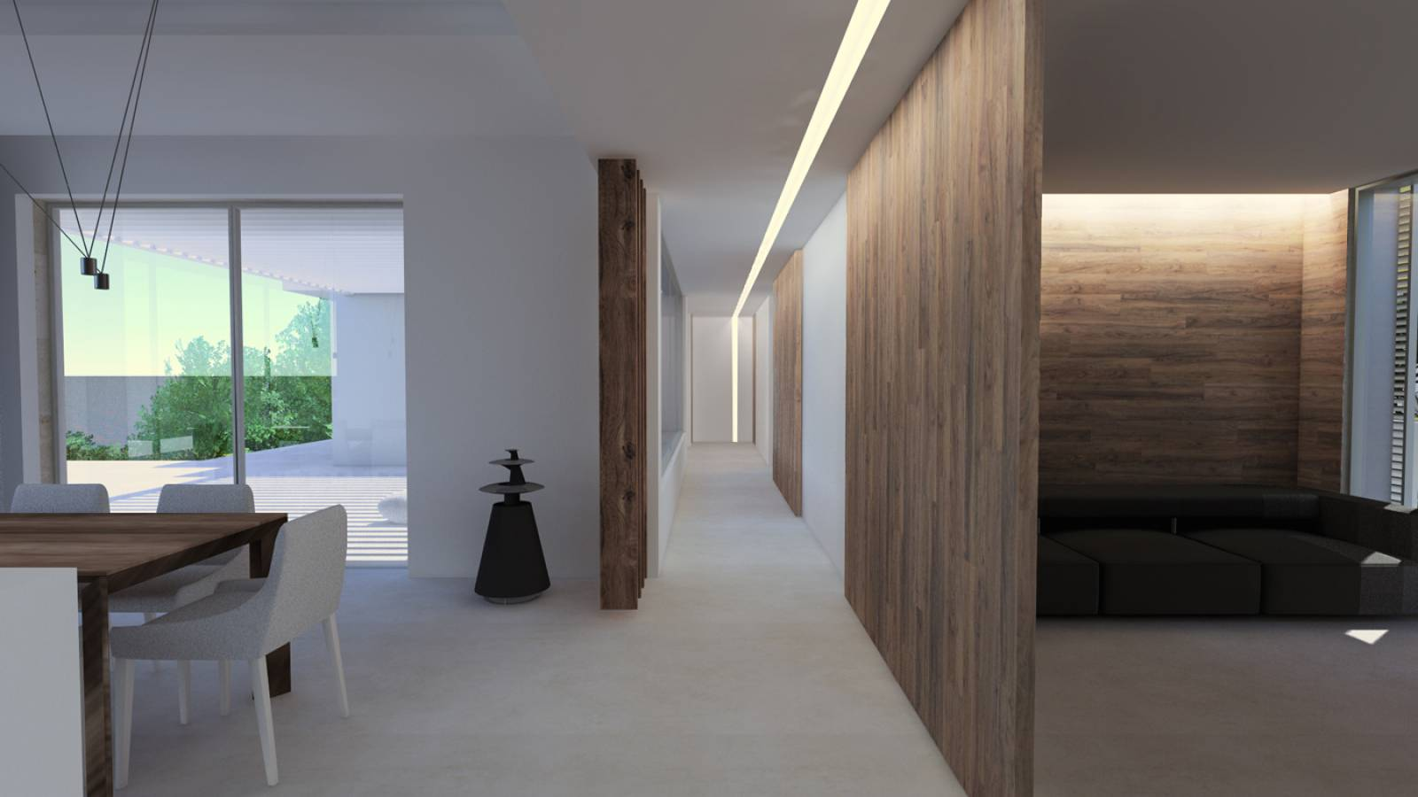 Architecture int rieure de la villa contemporaine e for Interieur villa