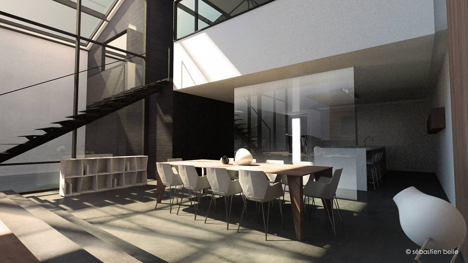 cr ation et agencement de lofts architecte a2 sb. Black Bedroom Furniture Sets. Home Design Ideas