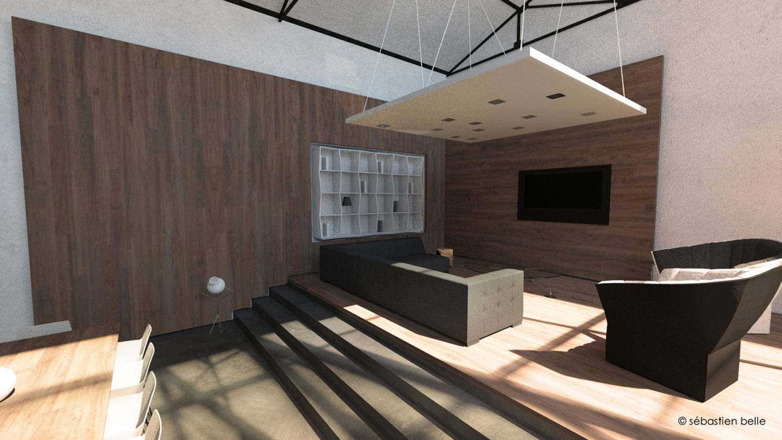 Am nagement loft s lyon en rh ne architecte a2 sb for College lasalle design interieur