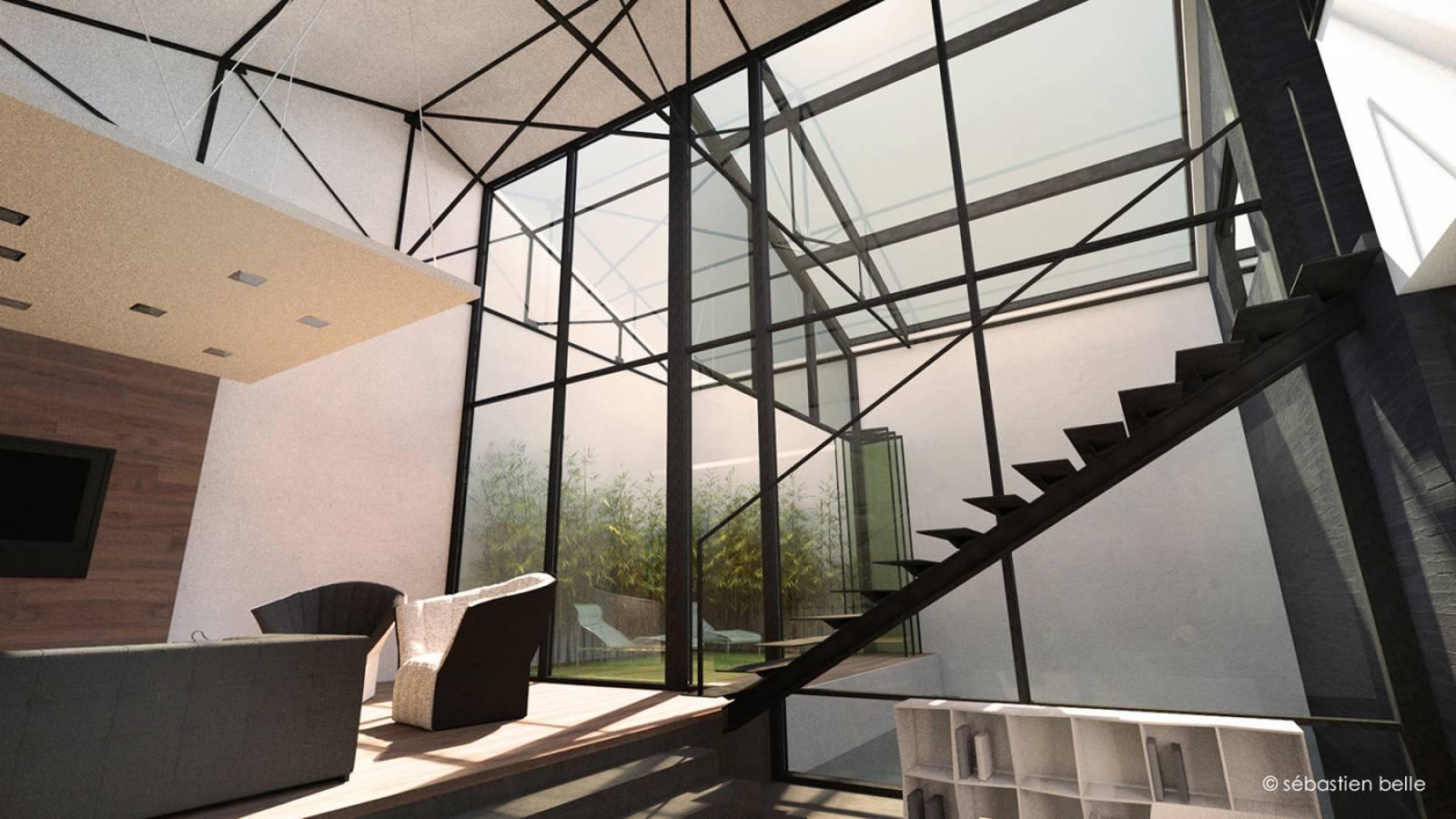 am nagement loft s lyon en rh ne architecte a2 sb. Black Bedroom Furniture Sets. Home Design Ideas