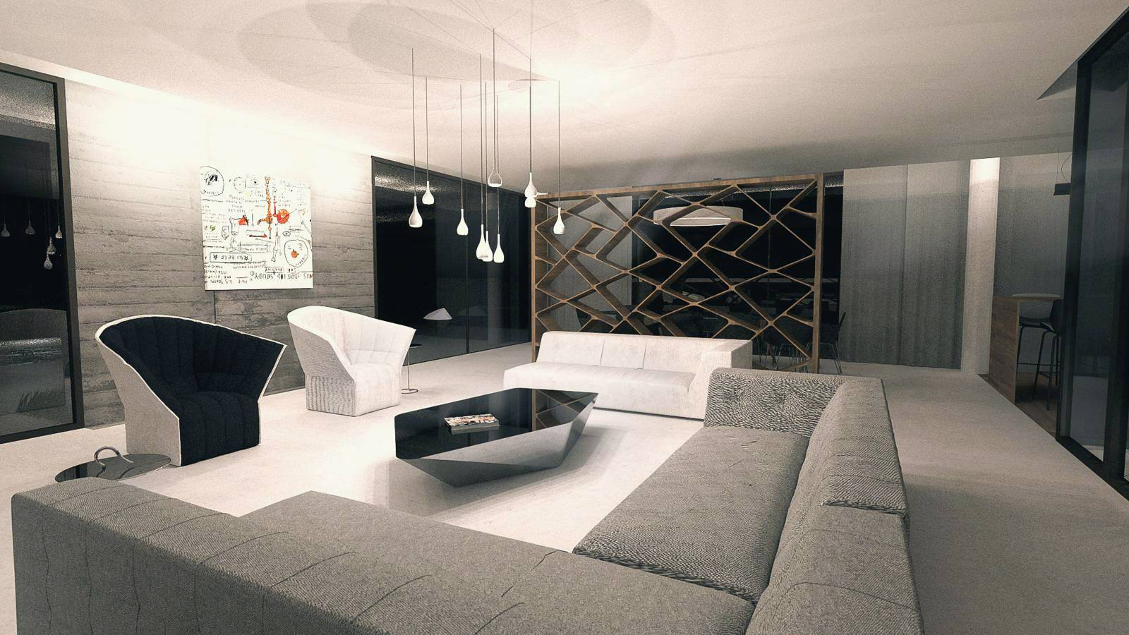 agencement int rieur de la maison contemporaine l limonest dans le rh ne architecte a2 sb. Black Bedroom Furniture Sets. Home Design Ideas