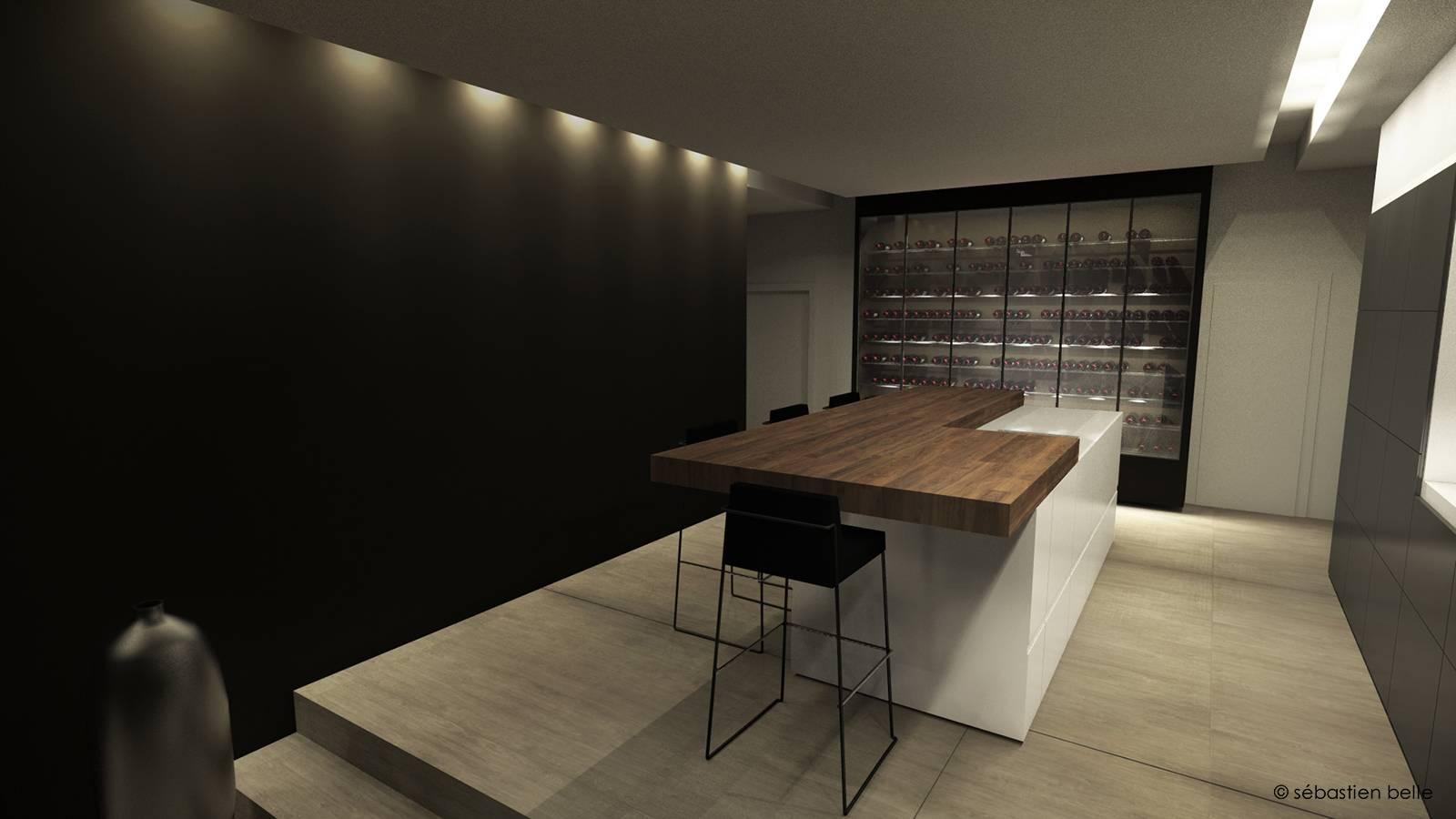 agencement int rieur de la maison h pr s de lyon rh ne architecte a2 sb. Black Bedroom Furniture Sets. Home Design Ideas