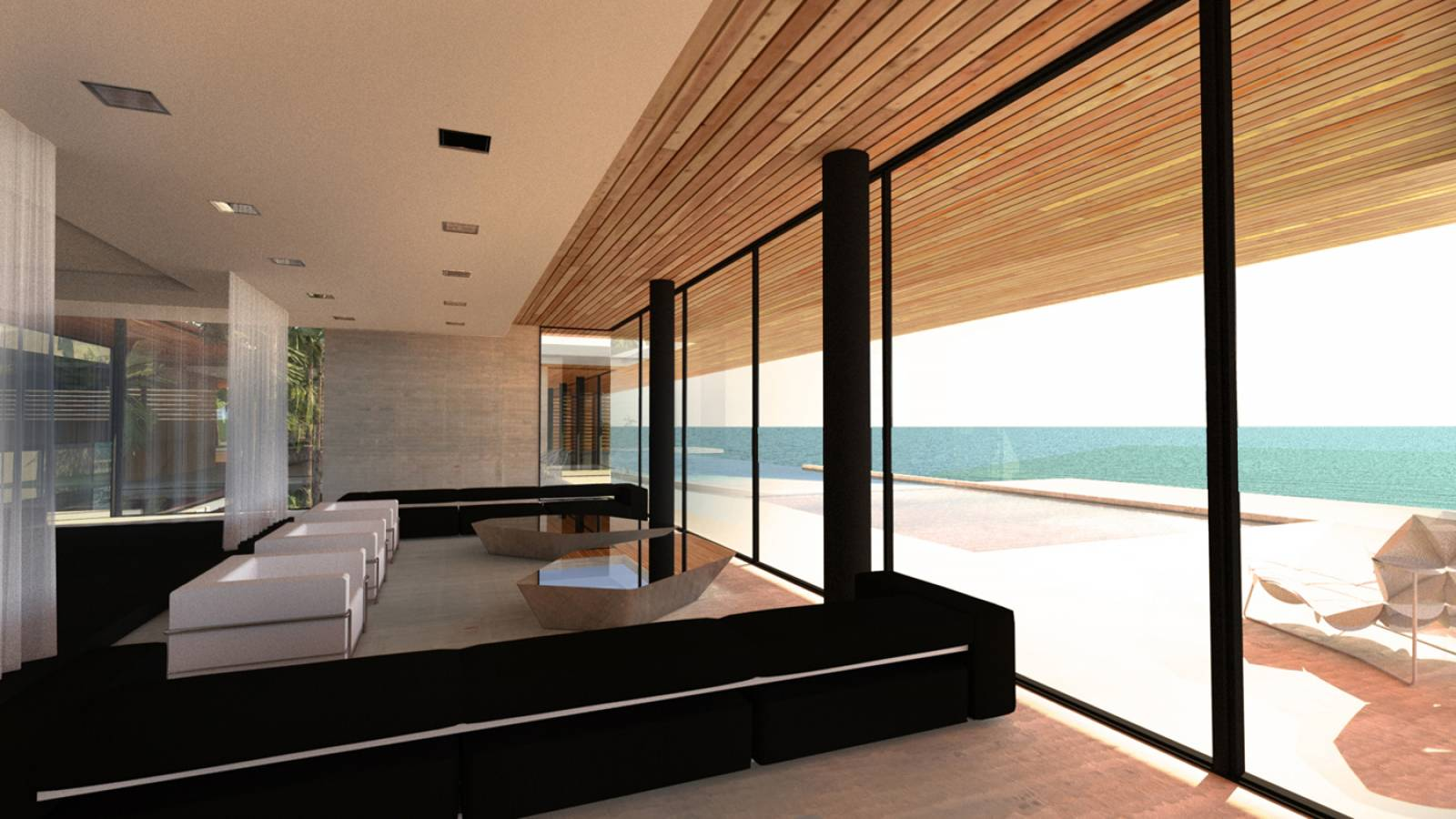 Villa design d in florida united states architecte a2 sb for Decor villa interieur