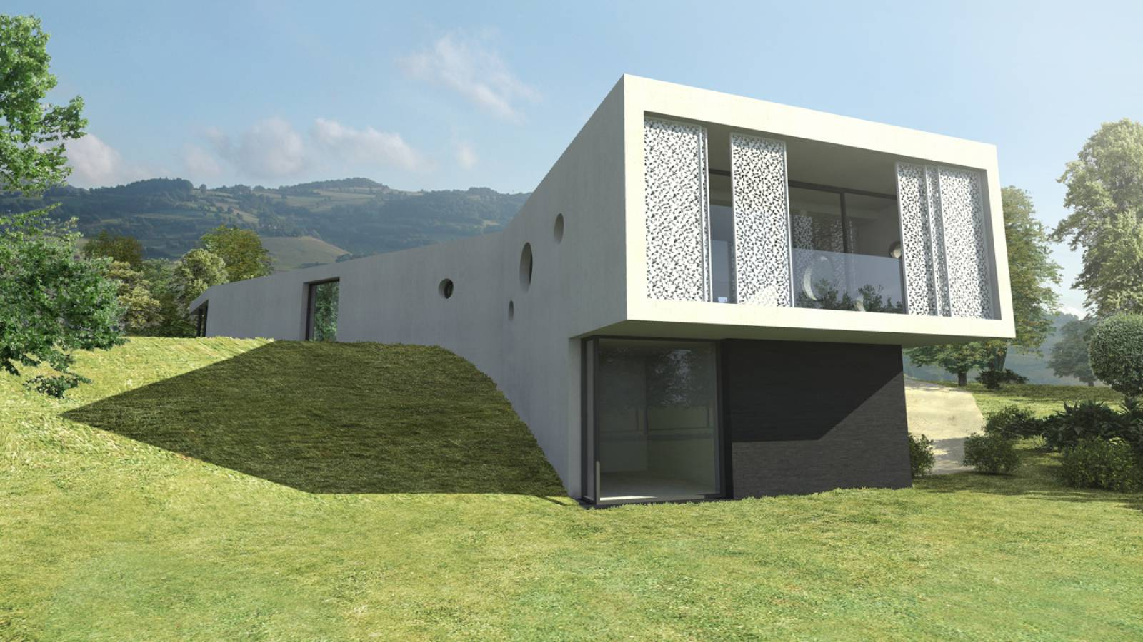 maison d'architecte design à Saint Fortunat