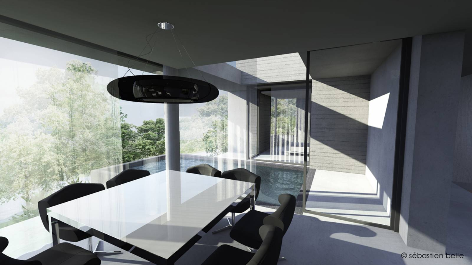 Villa contemporaine c pr s de gen ve en suisse for Architecte interieur geneve