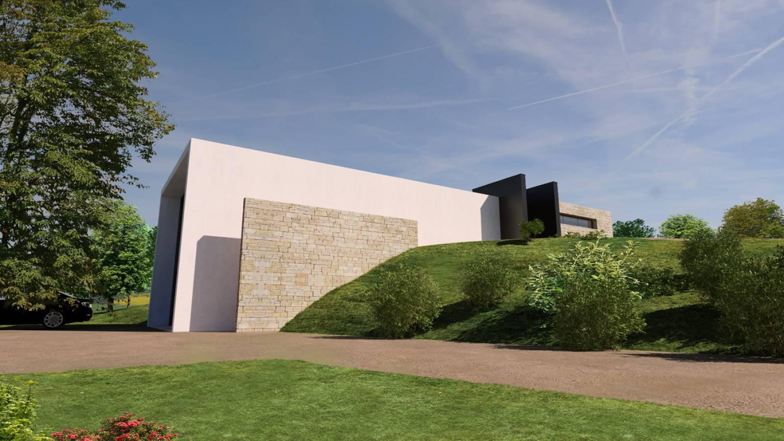 Maison contemporaine i en pays de gex dans l 39 ain for Architecte de maison contemporaine