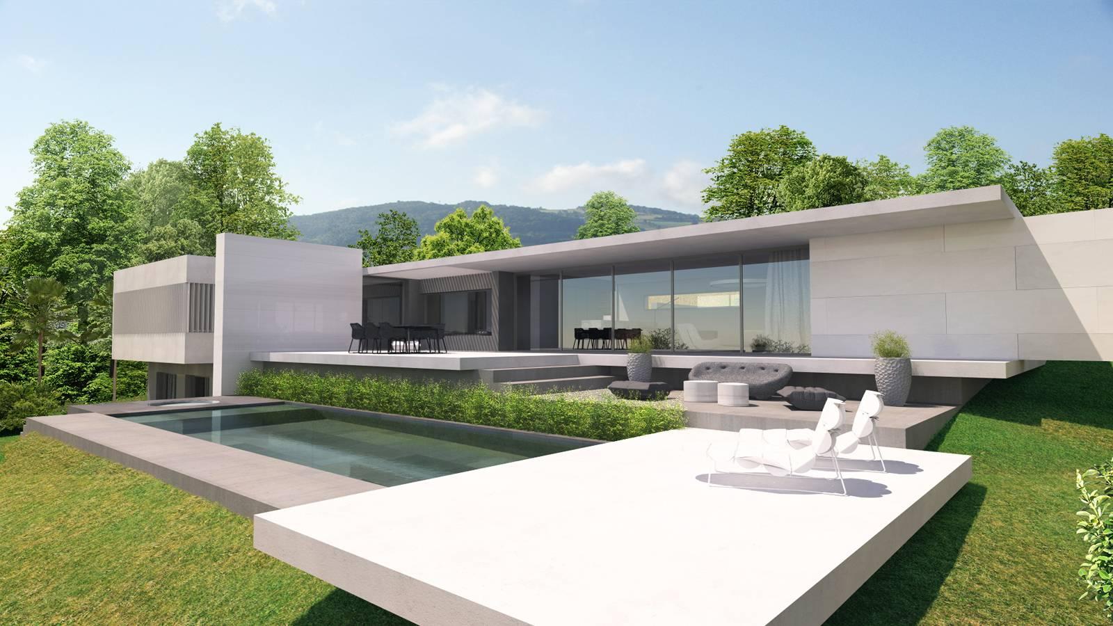 Parfait Maison d'architecte moderne g près de Lyon - Architecte - a2-Sb XH45