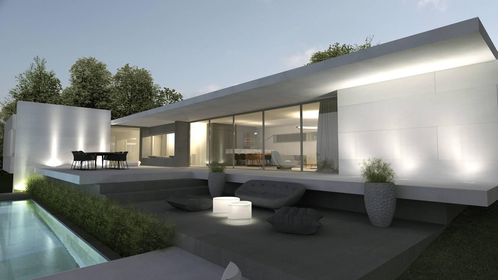 maison d 39 architecte moderne g pr s de lyon architecte a2 sb. Black Bedroom Furniture Sets. Home Design Ideas