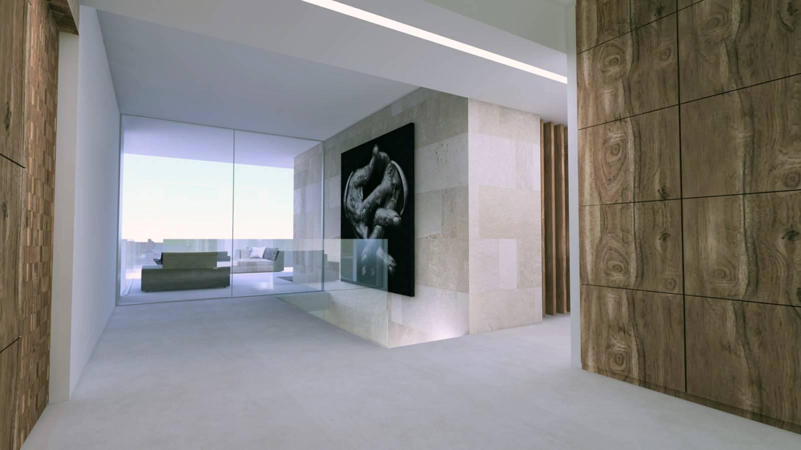 Architecture intérieure de la villa contemporaine E à Sainte ...
