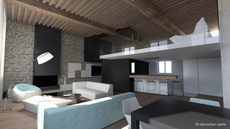 Cabinet d 39 architecte plans de maison contemporaine cannes a2 sb for Prix decorateur interieur
