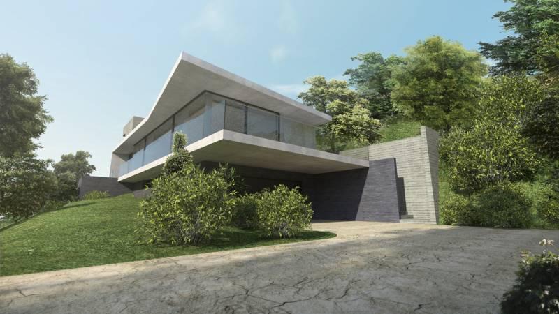 Architecte pour construction villa contemporaine lyon a2 sb for Architecte villa contemporaine