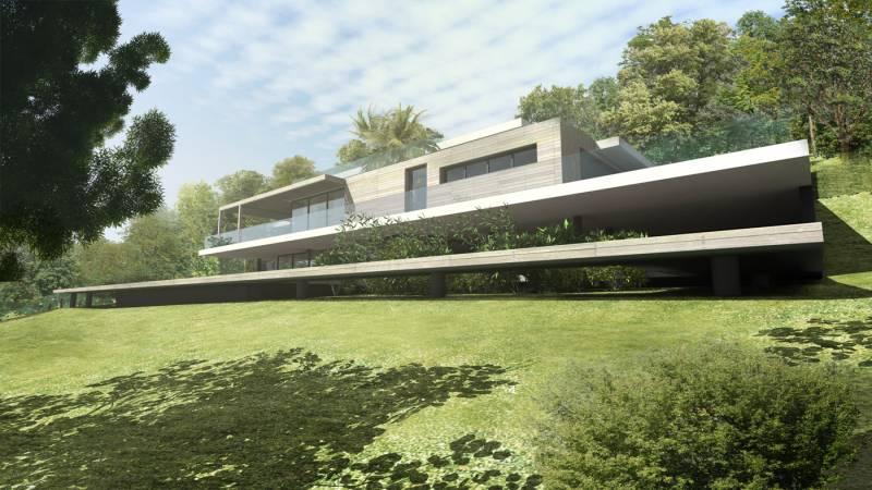 Architecte pour construction villa contemporaine lyon a2 sb - Architecture contemporaine residence parks ...